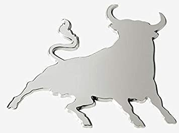 Chrome Set of 2 Bull Raton Car Sticker Wing Mirror Styling Decals