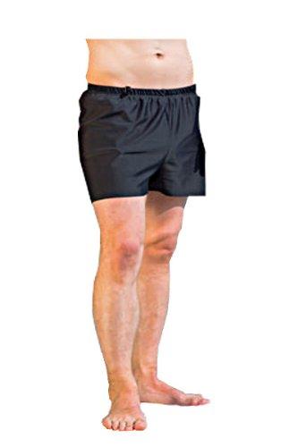 Suprima Schwimm-Shorts für Herren - schwarz - mit eingearbeitetem Sicherheitsslip - Gr. 8 - 1 Stück