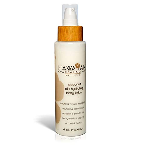 Hawaiian Healing Skin Care - Natural Coconut Scented Silk Hydrating Body Lotion