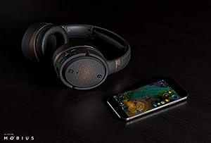 Audeze Mobius | Premium Immersive Cinematic 3D Audio Headphones | 7.1 Surround Sound | Head Tracking | Bluetooth | Over-Ear Headset | Copper Trim