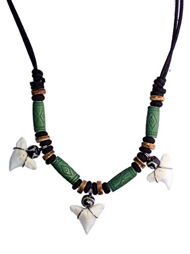 Used, exoticdream Shark Tooth Tribe Beads Necklace Handmade for sale  Delivered anywhere in USA