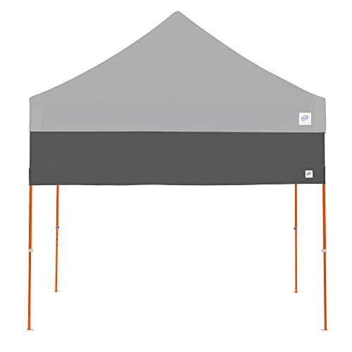 E-Z UP Recreational Half Wall - Steel Grey - Fits Straight Leg 10' E-Z UP Instant Shelters ()