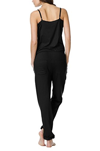 Linsery Women's Summer Casual Spaghetti Strap Sleeveless Jumpsuits Overalls,Black-1747,Small by Linsery (Image #2)