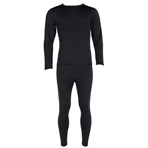 Polar Extreme Men's Brushed Base Layer Thermal Set, Large, Black