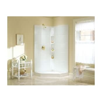 sterling corner shower kits. Sterling Plumbing 72040100 0 Intrigue 40 1 4 Inch x  NI3190A 38S W Economy 38 72
