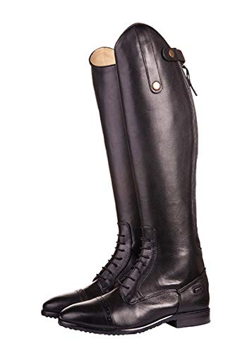 Riding Grey Close HKM Range Length Long 46 Valencia Black Boots AppxwRqO