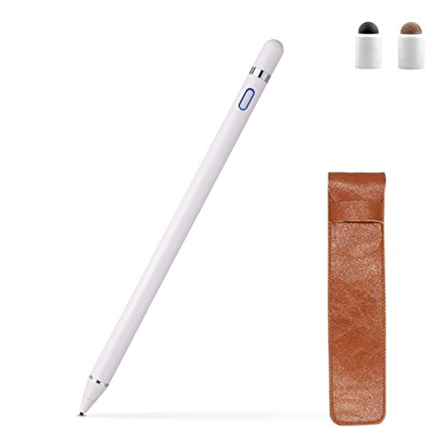 Zspeed Active Stylus Pen, 1.45mm High Precision and Sensitivity Point Capacitive Stylus, for most Touch Screen Device (White)