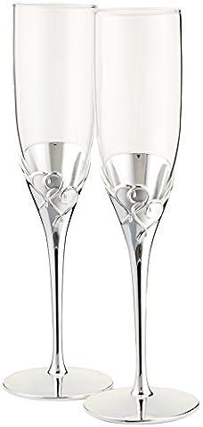 Lenox True Love Glass Flute Pair - Lenox Crystal