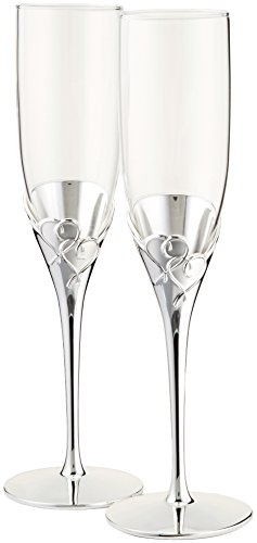 Lenox True Love Glass Flute Pair (Flutes Wedding Toasting)