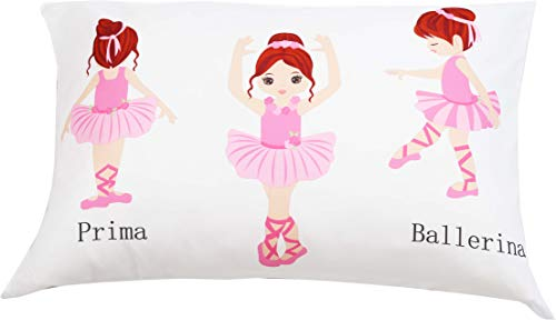 EVERYDAY KIDS Toddler Fitted Sheet and Pillowcase Set -Born to Dance Ballerina- Soft Microfiber, Breathable and Hypoallergenic Toddler Sheet Set 4