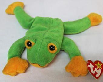 Ty Beanie Babies - Smoochy the Frog (Webbed Feet)