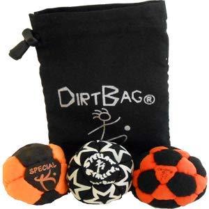 Dirtbag Medley Footbag Hacky Sack 3 Pack - Orange/Black by Dirtbag