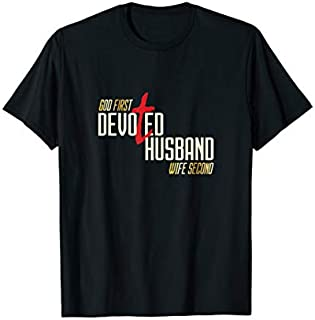 Best Gift Mens Devoted Husband  Christian Husband Need Funny TShirt / S - 5Xl