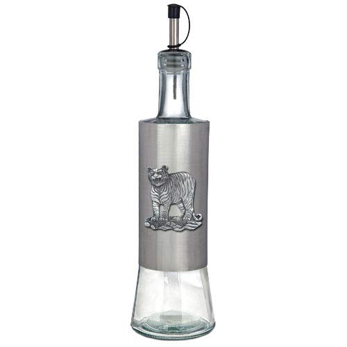 1pc, Pewter Tiger Pour Spout Stainless Bottle
