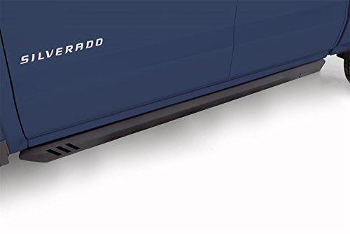 LUND 26410027 Black Steel Rock Rails for 2011-2018 Silverado/Sierra 1500, 2011-2016 Silverado/Sierra 2500HD, 3500HD Crew Cab; Diesel (2012 Chevrolet Silverado 2500hd Crew Cab Configurations)
