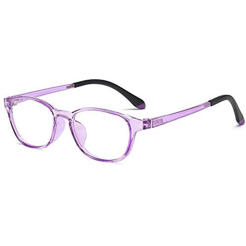 Fantia Children's Decorative Eyeglass Frame Clean Lens Non Prescription Glasses for Kids (Purple, -