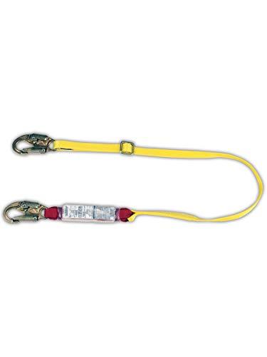MSA 10088259 Sure-Stop Adjustable Shock-Absorbing Lanyard, Capacity, Volume, Nylon, Adjustable (4'-6'), Yellow