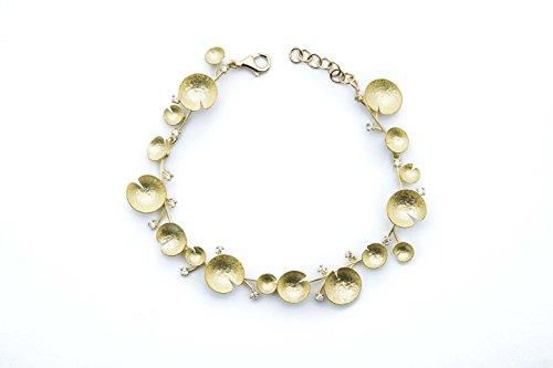 Nuovi Gioielli. Bracelet Ninfee en or jaune 18 carats avec diamants