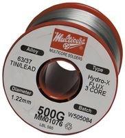 MULTICORE / LOCTITE MM00989 SOLDER WIRE, 63/37 SN/PB, - Solder Core Multi
