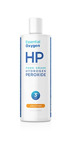 Essential Oxygen Food Grade Hydrogen Peroxide, Natural Cleaner, 3%, 16 Ounce ()