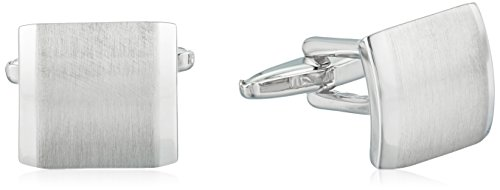 kenneth-cole-reaction-mens-brushed-silver-cufflinks-silver-one-size