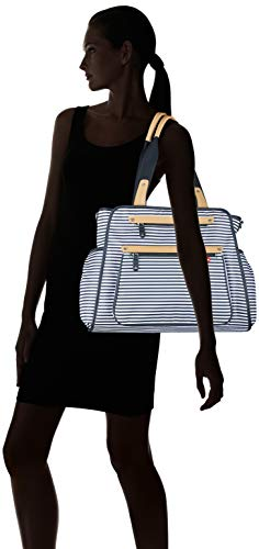 Skip Hop Diaper Bag Tote with Matching Changing Pad, Grand Central, Black & White Stripe by Skip Hop (Image #9)