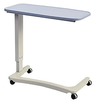 NRS Healthcare Easylift - Elevador Overbed/mesa auxiliar para silla (moderno azul n43577 Altura Ajustable curvado, silla de ruedas, base: Amazon.es: Salud y ...