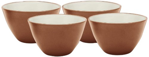 Noritake Colorwave Bowl, 4-Inch, Terra Cotta, Set of 4