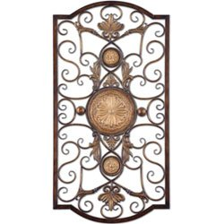 Uttermost Micayla Home Decor, Large - Metal Wall Chestnut
