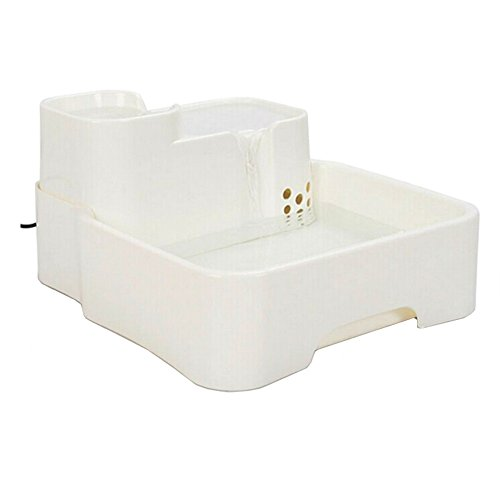 Cacoffay Automatic Pet Water Dispenser Water Fountain Fresh Flow For Cats And Small To Medium Dogs Healthy And Hygienic Drinking Fountain With Filter(4.5L) (Colloidal Fountain)