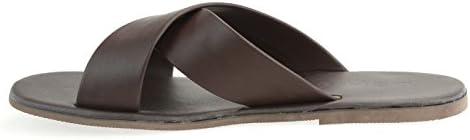 サンダル メンズ クロスストラップ スエード 紳士靴 シューズ