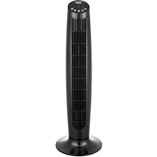 """Sharper Image 36"""" ETL Certified Black Tower Fan with Remote Control by Sharper Image"""
