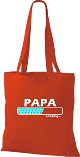 Jute Stoffbeutel Papa Loading viele Farben rot