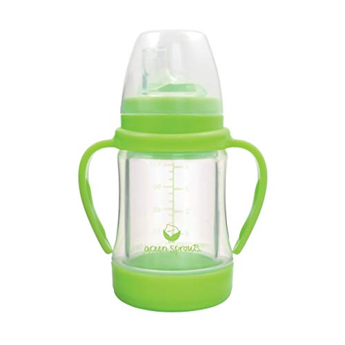 green sprouts Glass Sip & Straw Cup | Liquids only touch silicone & glass |...