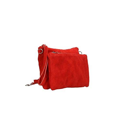 24 de x 17 Piel Bolso 4 de hombro Rojo x Borse Chicca genuina Cm Ew60BB