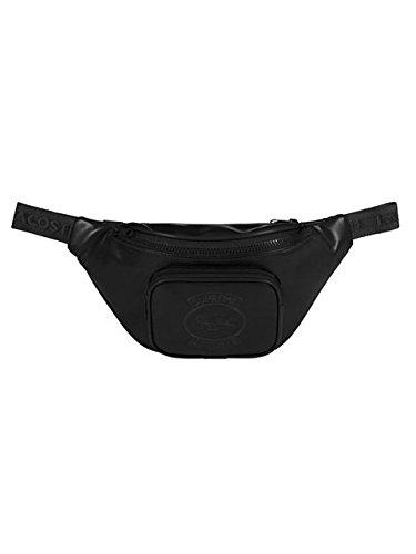 (シュプリーム) Supreme メンズ ラコステコラボウエストバッグ ブラック LACOSTE × SUPREME Collaboration Collection Waist Bag NH2701SW B07DTZ84X5