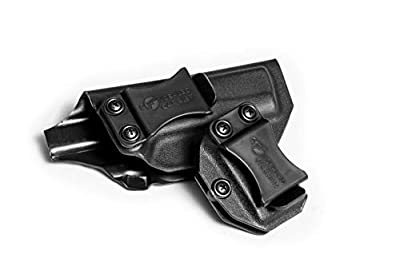 IWB Glock 43 Holster with Magazine Holster   Made in USA by Combat Veteran Owned Company   Mag Pouch   Concealed Carry Clip CCW Holsters Inside The Waistband