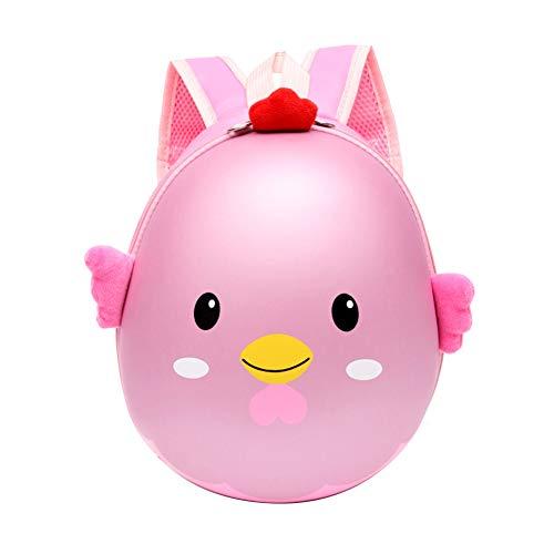 dna18729nd Fashion Cute 3D Chick Egg Shell Backpack Children Boys Girls Kindergarten School Bag Pink