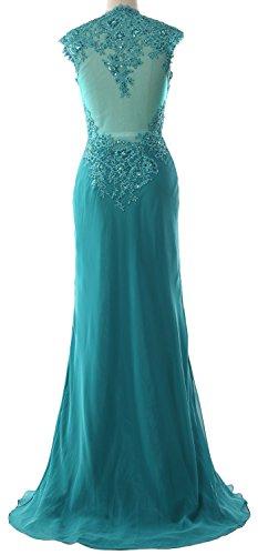 Neck Women V the Gown Formal Bride Silber Lace MACloth Chiffon Evening of Mother Dress qETdw5Txfv