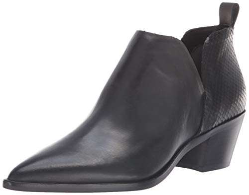 Dolce Vita Women's Sonni Ankle Boot, Black Leather, 7.5 M US