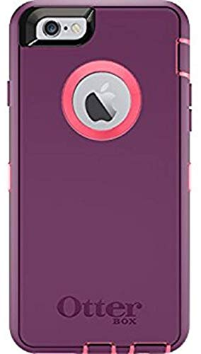 OtterBox Defender Series Case for iPhone 6 / 6S & Cable & Belt Clip fits OtterBox Cover (Purple Pink)