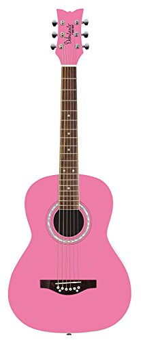 Daisy Rock 6 String Acoustic Guitar, Bubble Gum Pink (DR7400-A-U)