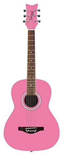 Daisy Rock 6 String Acoustic Guitar Bubble Gum Pink DR7400-A-U