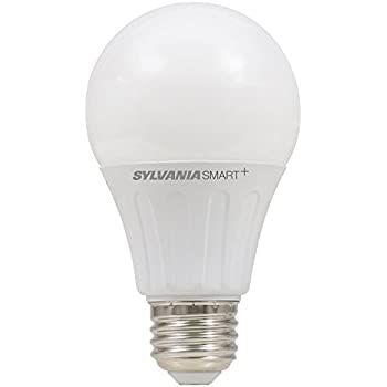 SYLVANIA SMART+ ZigBee Soft White Dimmable A19 LED Bulb, Works with SmartThings and Amazon Echo Plus, Hub needed for Amazon Alexa and Google Assistant