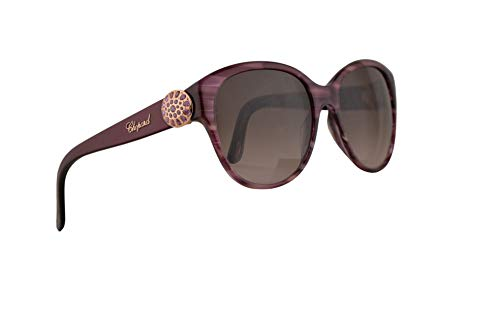 Chopard SCH185S Sunglasses Shiny Purple Striped w/Brown Gradient Lens 55mm 06XD SCH185/S SCH -