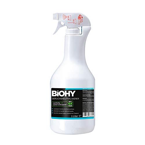 BiOHY Geur neutraliserend middel (Spray de 1l) | Extra sterke geurverwijderaar/vernietiger en luchtverfrisser | Tegen…