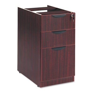 Valencia Box/Box/File Full Pedestal, 15-5/8w x 20-1/2d x 28-1/2h, Mahogany, Sold as 1 Each by Alera