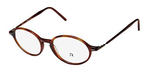 Rodenstock R8110 Mens/Womens Designer Full-rim Eyeglasses/Eye Glasses (47-17-140, Amber / - Frames Rodenstock Eyeglass