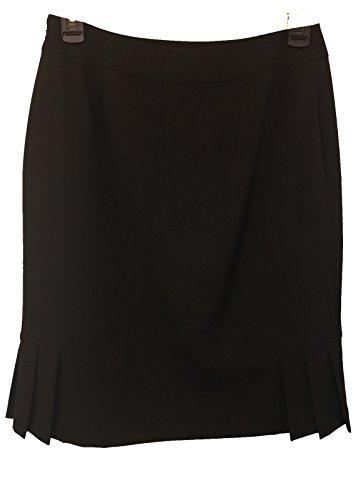 Tahari by ASL Womens Sz 2P Lined Pleated Pencil Black Skirt