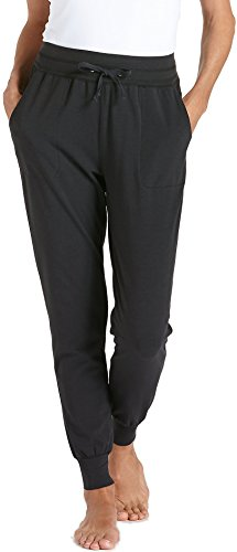 - Coolibar UPF 50+ Women's Weekend Pants - Sun Protective (Large- Black)
